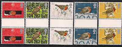 1995 Qeii Royal Mail Christmas Commemorative Stamp Gutter Pairs Sg 1896 1900 Mnh