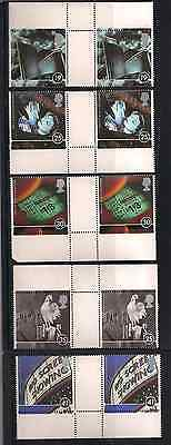 1996 Qeii 100 Years Of The Cinema Commemorative Stamp Gutter Pairs Sg 1920 1924