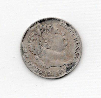 British Silver 1819 6 Pence-Lot D3