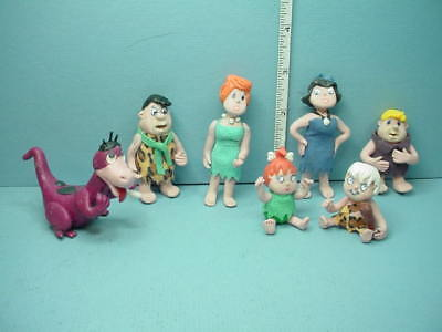 Miniature Flintstone Family of 7 Handcrafted Fantasy Creations