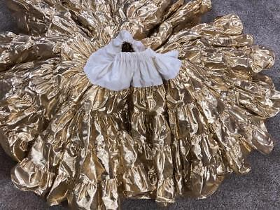 "Gold Shiny & Festive Square Dance Petticoat  21"" Length Super Nice >>>>>>"