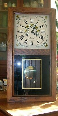 Vintage  Wuersch wall chime clock  movement 141-30 38 cm  beautiful
