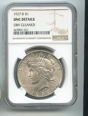 1927-D Silver Peace Dollar (UNC) NGC  READ!! BETTER DATE IN UNC!!