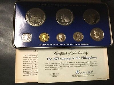 1976 Philippines Silver Proof Coin Set (8 Coins)!