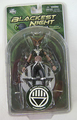 Blackest Night Series 6 Black Lantern Hawkgirl Action Figure Dc Direct Nip