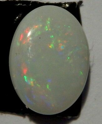 Solid Natural Australian Opal White Fire Coober Pedy 8mm x 6mm Calibrated