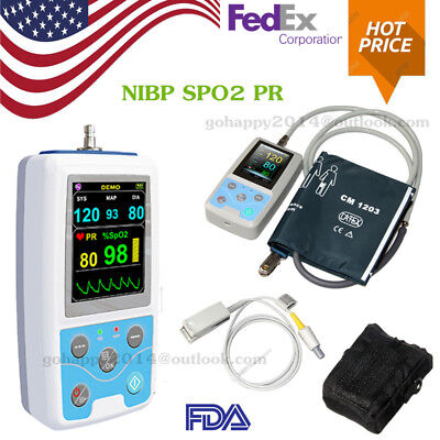 USA FDA PM50 Portable Vital Signs Patient Monitor NIBP/SPO2/Pulse rate Software
