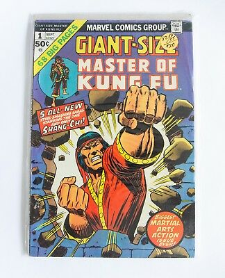 GIANT-SIZE MASTER OF KUNG FU #1 Sep 1974 Marvel Comics. Bronze Age Superheroes