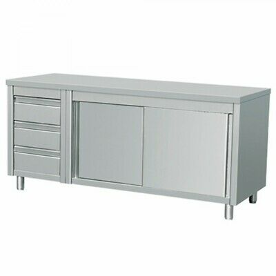 Commercial Stainless Steel Bench Cabinet 2 Right Sinks Food Prep Ddcl-7-2100