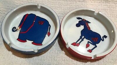 NWT Vintage1972 Political Ashtray GOP Republican Elephant & Democratic Donkey