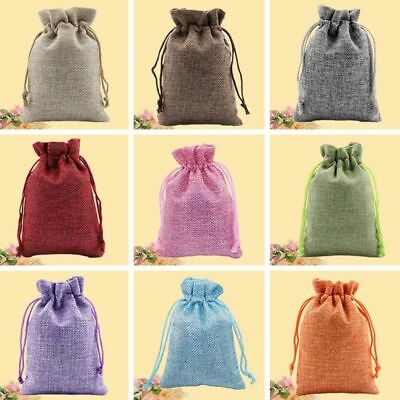 2PCS Drawstring Linen Pouch Pendulum Bag Christmas Jewelry Gift Bag Item
