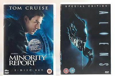 Minority Report & Aliens Special Edition. 2 Superb Science Fiction Films On Dvd!