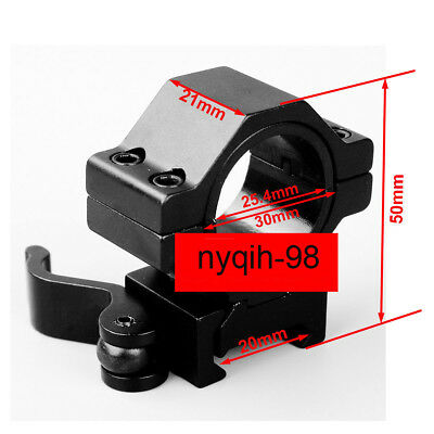 "1""/30mm Ring 20mm Picatinny Rail Low Profile QD Mount For Rifle Scope Hunting"
