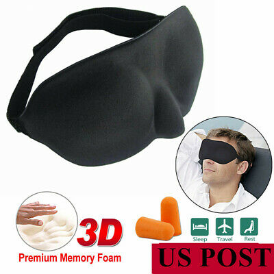 Comfortable Travel 3D Eye Mask Soft Padded Shade Cover Relax Sleep Blindfold