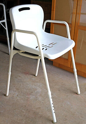 Shower chair adjustable height, arm and backrest Kallangur Pickup Only