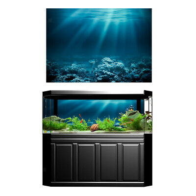 3D Aquarium Fish Tank Background Poster Picture Wallpaper PVC Adhesive Decor