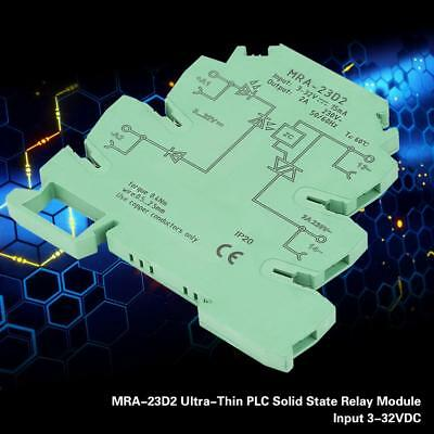 MRA-23D2 Ultra-Thin 6.2mm DIN Rail Relay Solid State Relay Module Input 3-32V DC