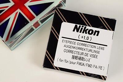 Nikon Eyepiece Correction Lens Diopter +1.0 For Fe Fe2 Fm Fm2 Fm3 Fm3T Fa Camera