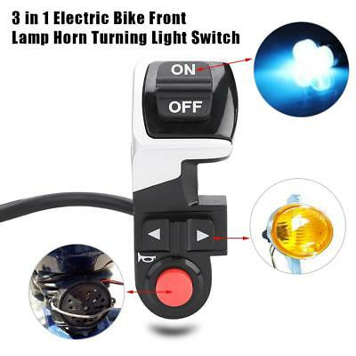 3in1 LED Tail light Scooter E-bike Turn Signal Rear Lamp Electric Bicycle Switch