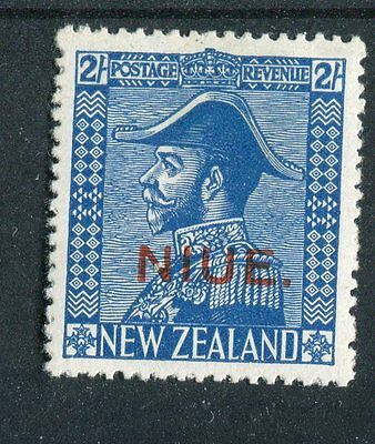Niue KGV 1927-28 2s light blue 'Admiral' SG49 mounted mint