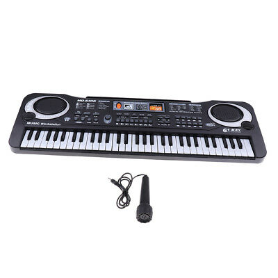 Digital 61 Keys Electronic Piano Keyboard w/Microphone Children Music Toys
