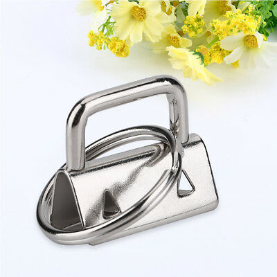 20 Pcs Durable Metal Bag Tail Clip Key Ring Connector for DIY Bag Purse Making