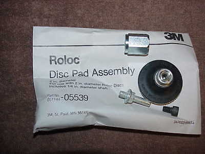 """NEW 3M 05539 Roloc Disc Pad Assembly 2""""  051144-05539 2 inch free shipping"""