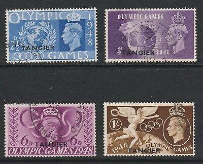 Tangier 1948 Olympic games set SG 257-260 Fine used.