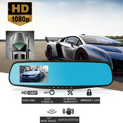 1080P Wide Angle Len Car 4.3'' Auto DVR Mirror Dash Cam Driving Recorder Camera