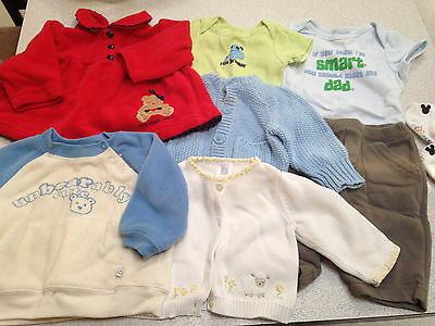 Baby Boy Huge Lot 3 6 9 12 M months Shirts Pants Sweaters Fleece Gap Winter Fall