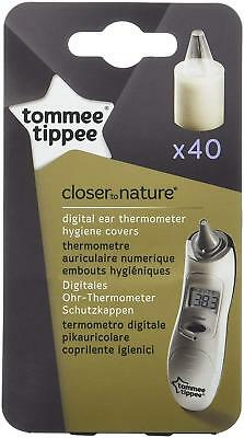 Tommee Tippee Closer To Nature Baby Newborn Ear Thermometer Covers Refills x40