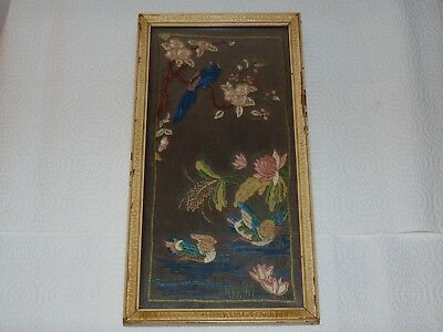 VINTAGE ANTIQUE VICTORIAN EMBROIDERED NEEDLEPOINT SAMPLER STYLE c. 1890 # 2