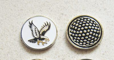 1 only EAGLE GOLF BALL MARKER approx 23mm