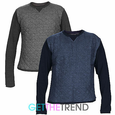 72eecf1c7f38 Mens Sweatshirt Genetic Apparel Plain Quilted Designer Long Sleeve Casual  Tops