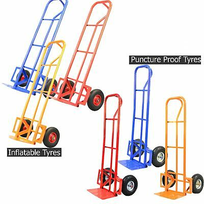 600LB Sack Truck Heavy Duty Industrial Hand Trolley Puncture Proof Tyres Wheels