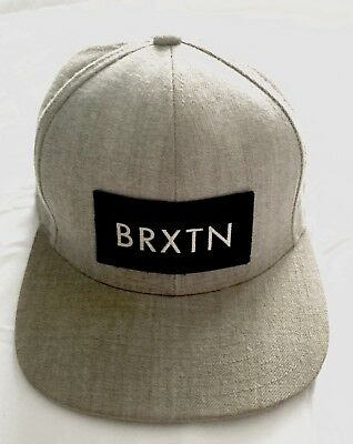 3de2ac5f7c329 Brixton Rift Black   Heather Grey Snapback Hat with custom embroidered  patch.
