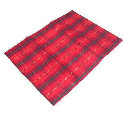 A Pack of 4 Red/Green Tartan/Check Christmas  Placemats