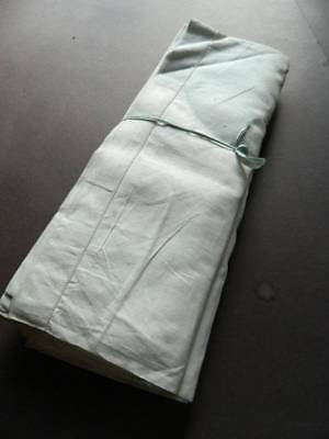 Pair vintage UNUSED white cotton twill sheets with plain hems.