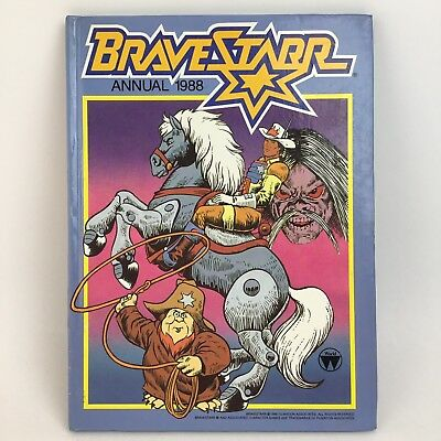 Vintage BraveStarr Annual 1988 Unclipped