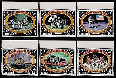USA Established Country LIBERIA 1971 Mint Stamps - Apollo 14