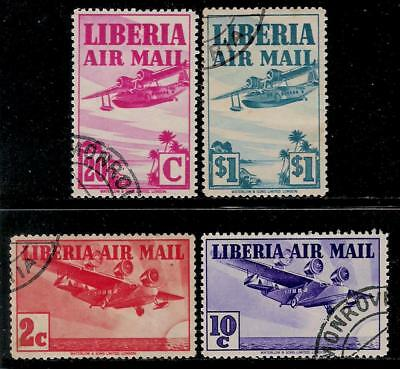 USA Established Country LIBERIA 1938 Old Air Post Stamps