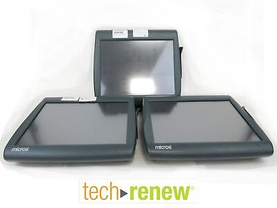 *Lot of 3* Micros Work Station 5A WS5  POS Terminal #400814-103  #400814-101