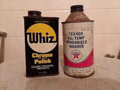 OLD Texaco Oil WHIZ  Windshield Washer  Lot of two(2) GREASE REPAIR gift