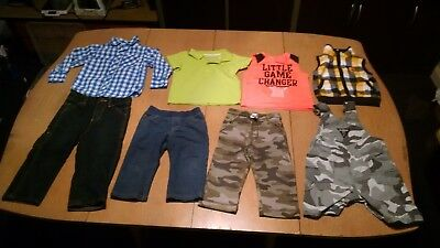Lot of Boys Clothes Toddler Size 18 months. Pants, Shirts, Overalls