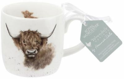 Royal Worcester Wrendale mug highland cow - fine bone china cup