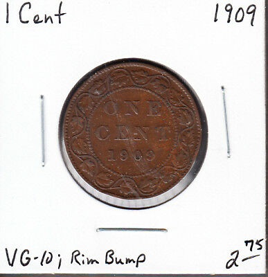 1909 Canada - Large Cent - VG-10 - Edward VII - AH08