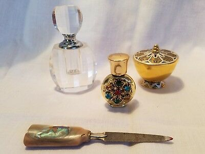 Glass Perfume Bottle, Jewel perfume Bottle, Lidded Container, MOP File (1)