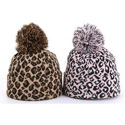 Men's Women Beanie Knit Ski Cap Hip-Hop Leopard Winter Warm Unisex Hat Gift LD