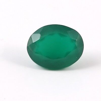 9.00 Cts Green Oval Shaped Man Mad Glass Loose Gemstone Faceted Free Size