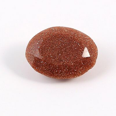 6.65 Cts Brown Oval Shaped Man Mad Glass Loose Gemstone Faceted Free Size